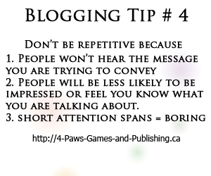 Blogging Tip 4