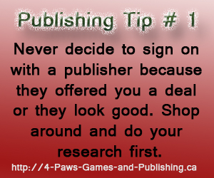 Publishing Tip 1